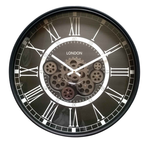 London Classic 54.5 Cm Numeral Moving Gear wall clock