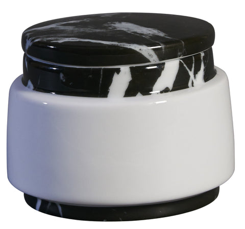 Container : Small Black Marble Decal On Stool