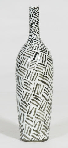 Large Handpainted-Black And White Tribal Vase (Big sale till end of Feb)