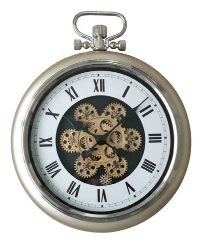 Roman Numeral  50 Cm Exposed oval Gear Moving Clock