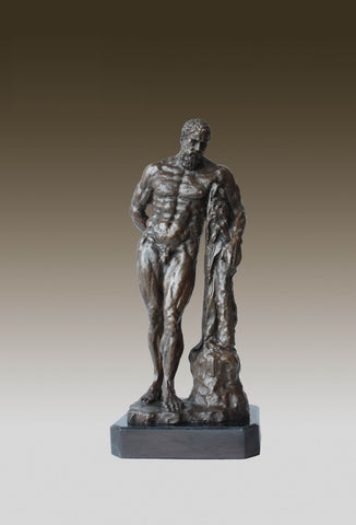 Bronze Sculpture Of  Hercules Resting