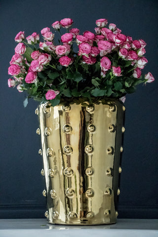 Large Sunset Gold Studded Ceramic Vase
