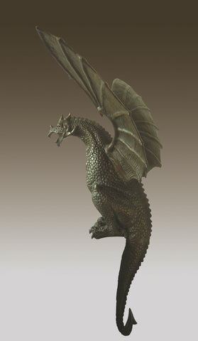 Massive Bronze Sculpture Huge Winged Drogon