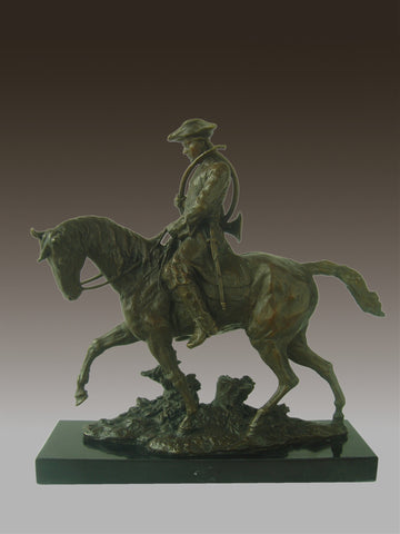 Statue Sculpture Horse Hunting Valet