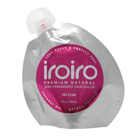 Hair Color - Iroiro 105 Plum Natural Vegan Cruelty-Free Semi-Permanent Hair Color