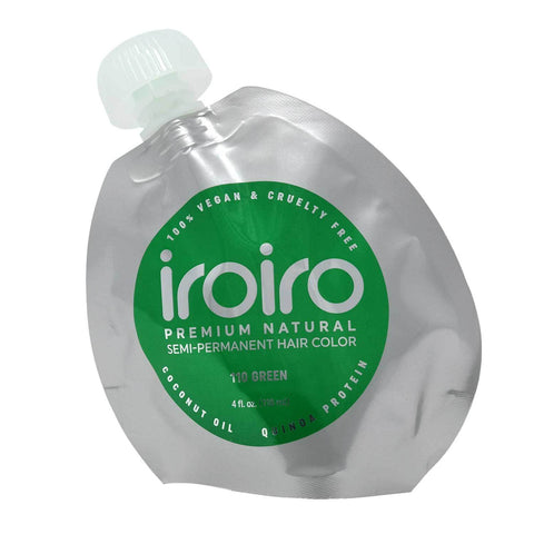 Hair Color - Iroiro 110 Green Natural Vegan Cruelty-Free Semi-Permanent Hair Color
