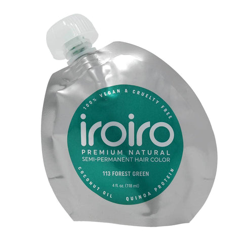 Hair Color - Iroiro 113 Forest Green Natural Vegan Cruelty-Free Semi-Permanent Hair Color