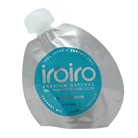 Hair Color - Iroiro 115 Emerald Green Natural Vegan Cruelty-Free Semi-Permanent Hair Color
