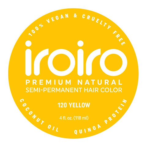 Hair Color - Iroiro 120 Yellow Natural Vegan Cruelty-Free Semi-Permanent Hair Color