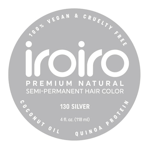 Hair Color - Iroiro 130 Silver Natural Vegan Cruelty-Free Semi-Permanent Hair Color