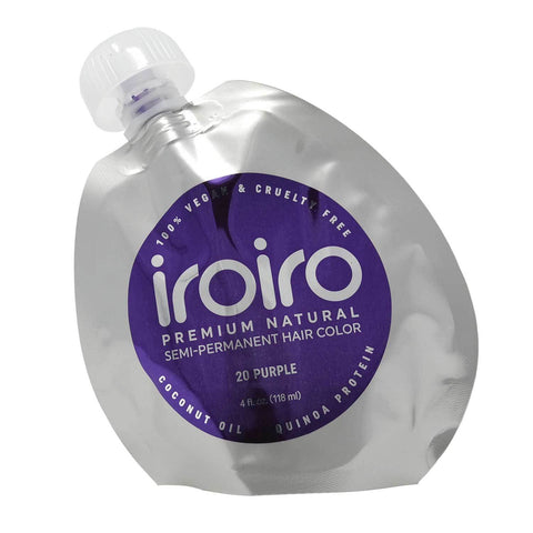 Hair Color - Iroiro 20 Purple Natural Vegan Cruelty-Free Semi-Permanent Hair Color