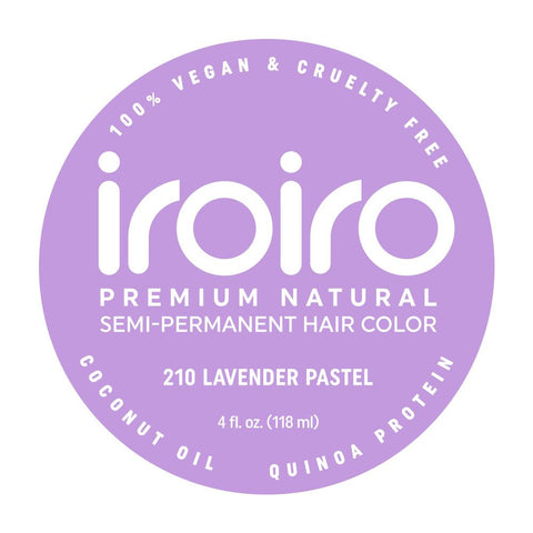 Hair Color - Iroiro 210 Lavender Pastel Vegan Cruelty-Free Semi-Permanent Hair Color