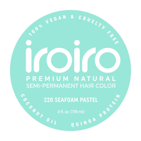 Hair Color - Iroiro 220 Seafoam Pastel Vegan Cruelty-Free Semi-Permanent Hair Color