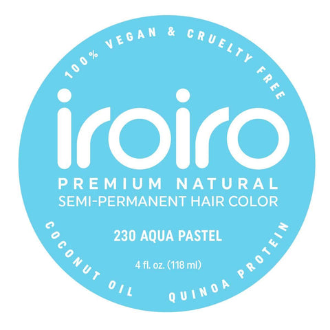 Hair Color - Iroiro 230 Aqua Pastel Vegan Cruelty-Free Semi-Permanent Hair Color