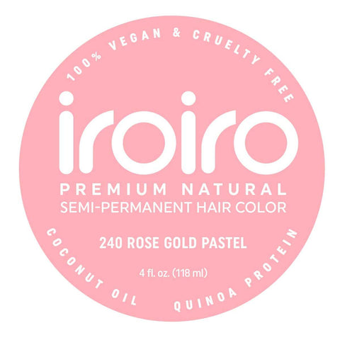 Hair Color - Iroiro 240 Rose Gold Pastel Vegan Cruelty-Free Semi-Permanent Hair Color