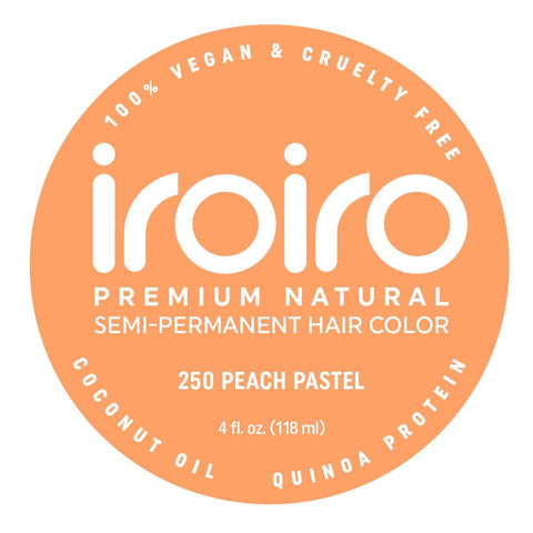 Hair Color - Iroiro 250 Peach Pastel Vegan Cruelty-Free Semi-Permanent Hair Color