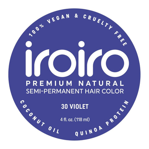 Hair Color - Iroiro 30 Violet Natural Vegan Cruelty-Free Semi-Permanent Hair Color