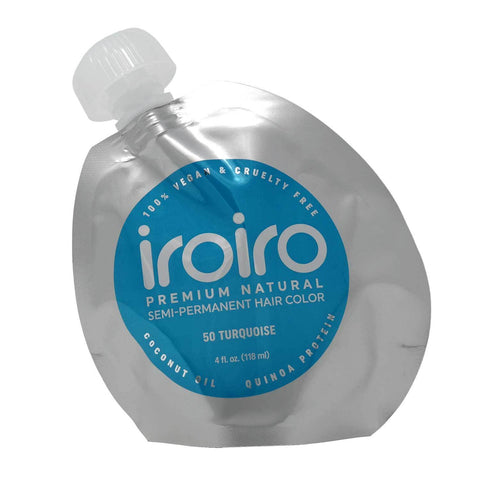 Hair Color - Iroiro 50 Turquoise Natural Vegan Cruelty-Free Semi-Permanent Hair Color