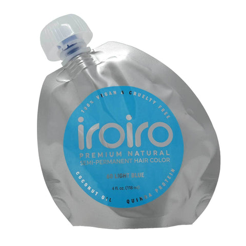 Hair Color - Iroiro 60 Light Blue Natural Vegan Cruelty-Free Semi-Permanent Hair Color