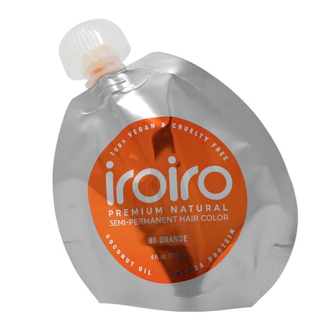 Hair Color - Iroiro 80 Orange Natural Vegan Cruelty-Free Semi-Permanent Hair Color