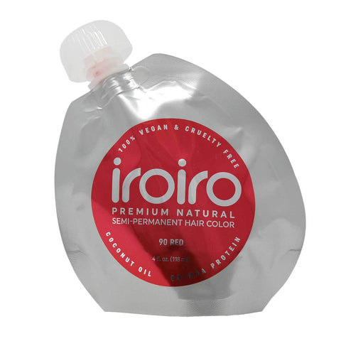 Hair Color - Iroiro 90 Red Natural Vegan Cruelty-Free Semi-Permanent Hair Color