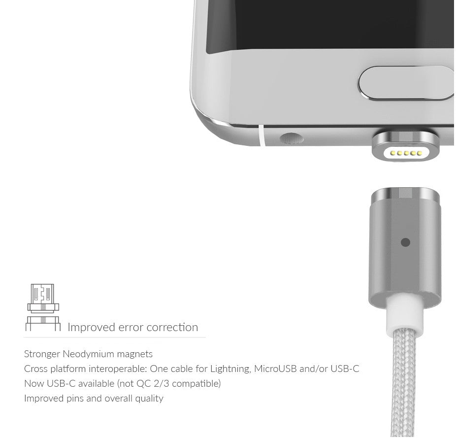 PLUGiES SNAP & CHARGE - Gen 3 Magnetic Cable for USB products
