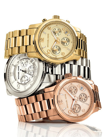 tone stainless kors crystal gold covered michael grande bracelet camille womens switzerland little watches steel watch products