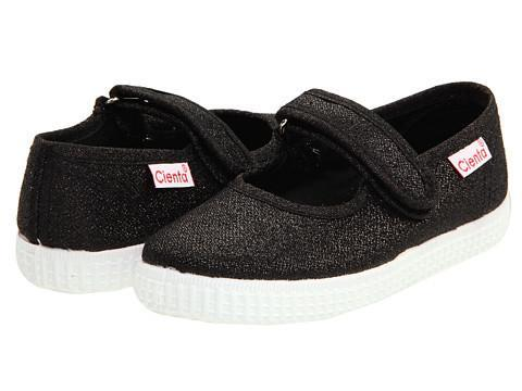 Cienta Girl's 56013 Black Sparkle Mary Jane