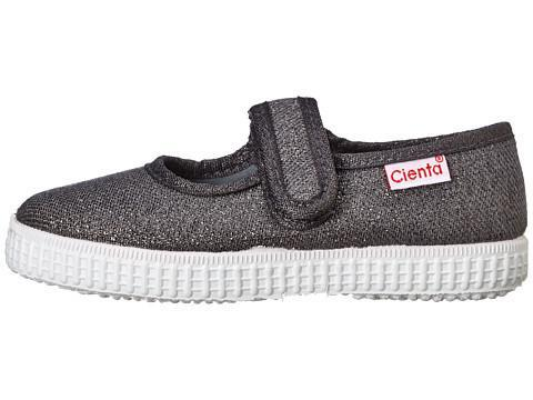 Cienta 56013 Grey Sparkle Canvas Mary Jane