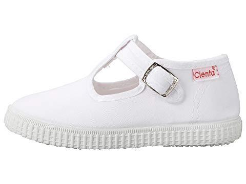 Cienta Girl's and Boy's 51000 White T- Strap