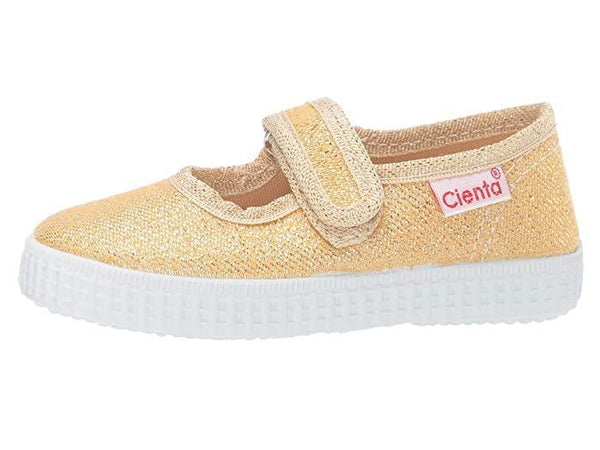 Cienta Girl's 56013 Yellow Gold Sparkle Mary Jane