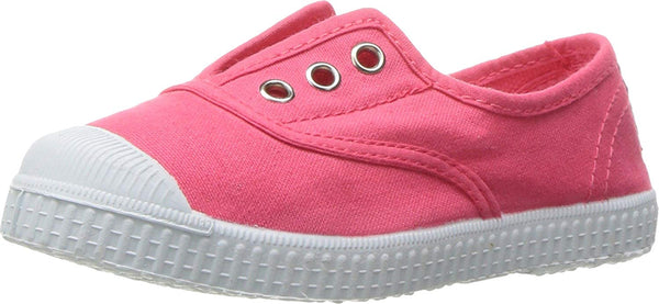 Cienta Girl's 70997 Watermelon Canvas Laceless Sneaker