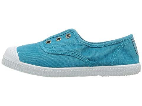 Cienta 70777 Washed Turquoise Canvas Laceless Sneaker