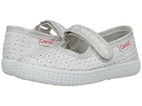 Cienta Girl's 56022 Silver Sparkle Print Mary Jane