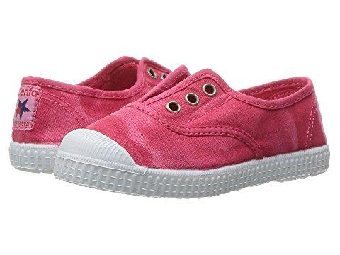 Cienta Girl's 70777 Distressed Strawberry Canvas Laceless Sneaker