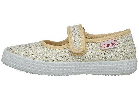 Cienta Girl's 56022 Gold Sparkle Print Mary Jane