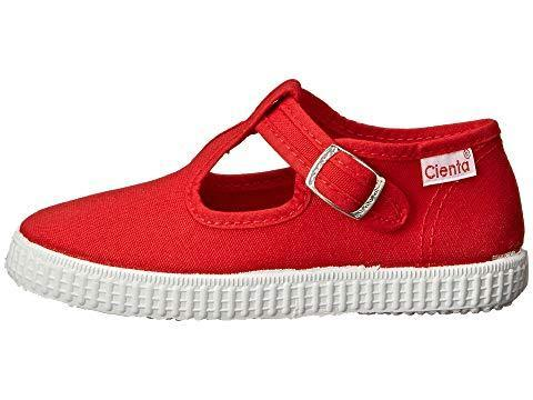 Cienta Girl's and Boy's 51000 Red T- Strap