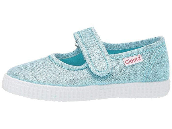 Cienta Girl's 56083 Limited Edition Blue Frost Sparkle Mary Jane