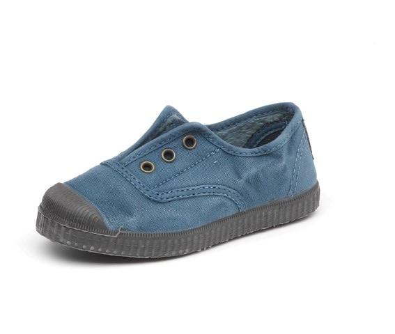 Cienta 955777 Blue Washed Canvas Laceless Sneaker
