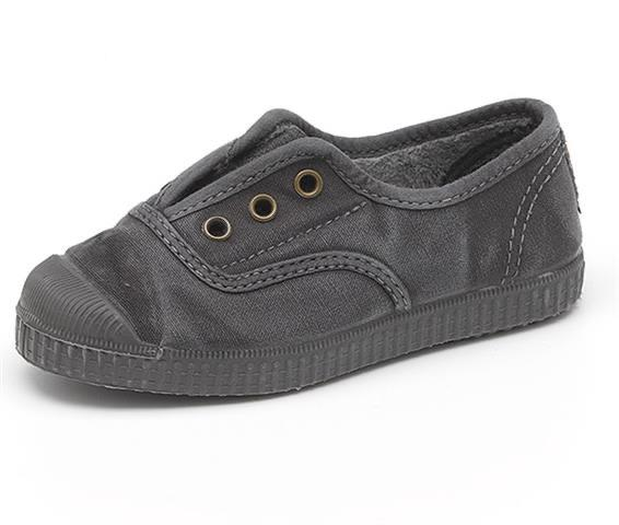 Cienta 955777 Black Washed Canvas Laceless Sneaker