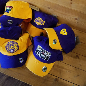"Krush Kreationz ""Purple/Gold Collection"" Dad Hat"