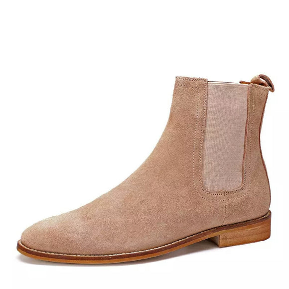 Mid Suede Boot w/ texture sole