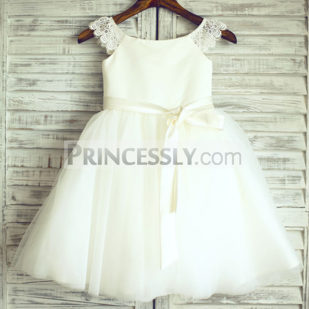 49a90b0c6e The Best 16 Ivory Flower Girl Dresses Ideas for a Fairy-Tale Forest ...