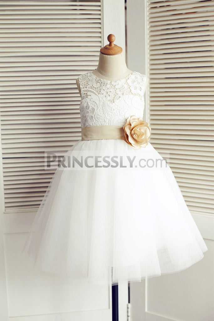 fccb443a8 The Best 16 Ivory Flower Girl Dresses Ideas for a Fairy-Tale Forest ...