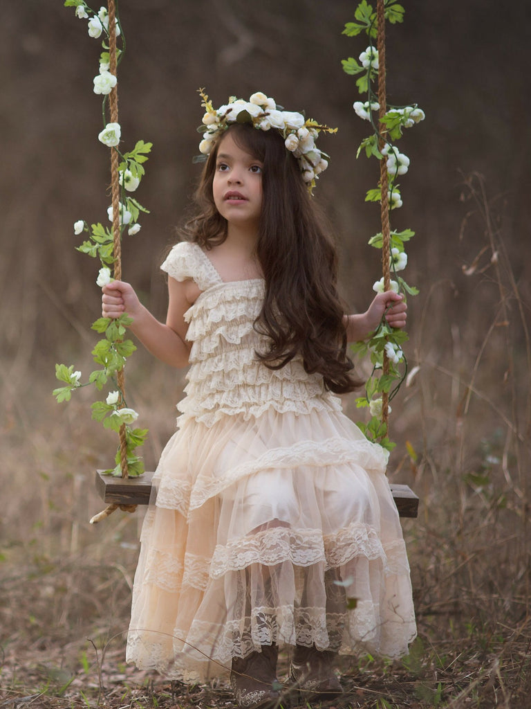 91e557691c7 The Best 16 Ivory Flower Girl Dresses Ideas for a Fairy-Tale Forest ...