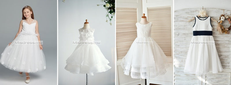 tea length flower girl dress