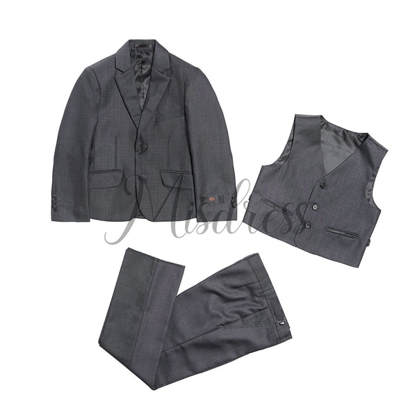 3 PCS Gray Boys Formal Occasion Suit - Boys Suits
