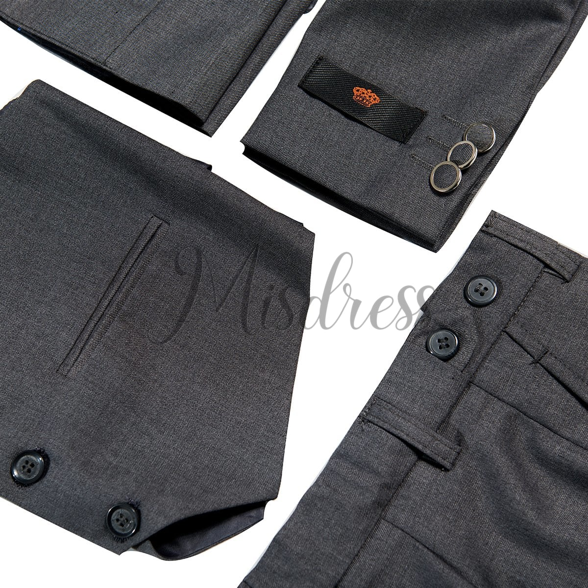 3 PCS Gray Boys Suit Page Boy Suit Wedding Occassional Suit
