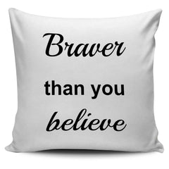 Braver, Stronger, Smarter Pillow Set - The Timeless Store