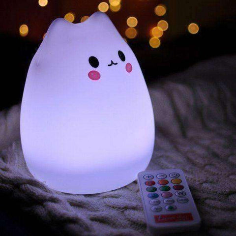 Cat Home Decor Night Light with Remove Control